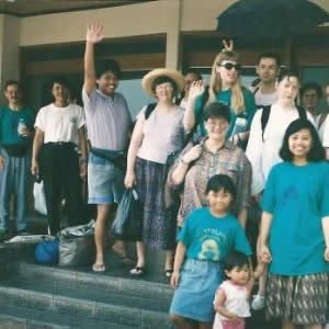 GPM on tour in Indonesia, 1994-5