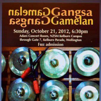 Gamelan Gangsa 21 Oct Poster