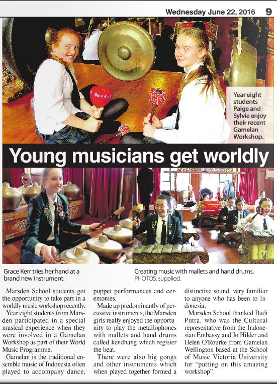 Marsden School Workshop, 9 June 2016 (Independent Herald)