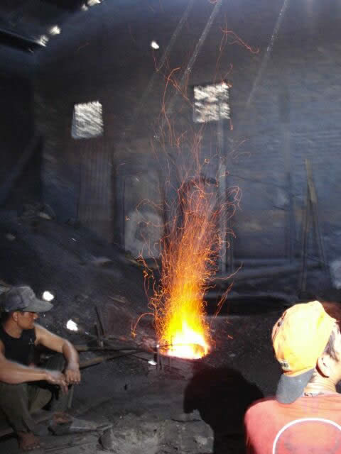 Gong Forge in Surakarta, Central Java (Photo: Pippa Strom)