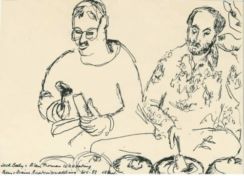 Drawing Of Jack And Allan Playing 1985