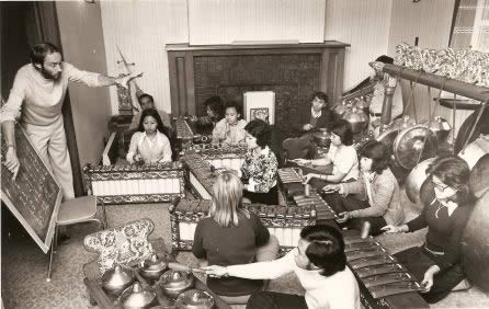 Allan teaching gamelan 1975