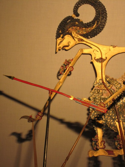 Puppet With Arrow And Shadow