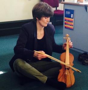 Megan Collins, keynote speaker, played rabab pasisia