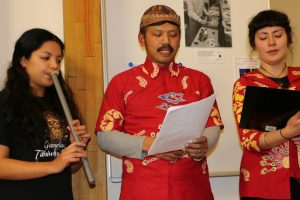 Macapat performed by Budi S Putra, Briar Prastiti and Carina Esguerra (suling)